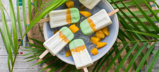 Popsicle Week 2016 – Mango Pandan Vanilla Bean Popsicles
