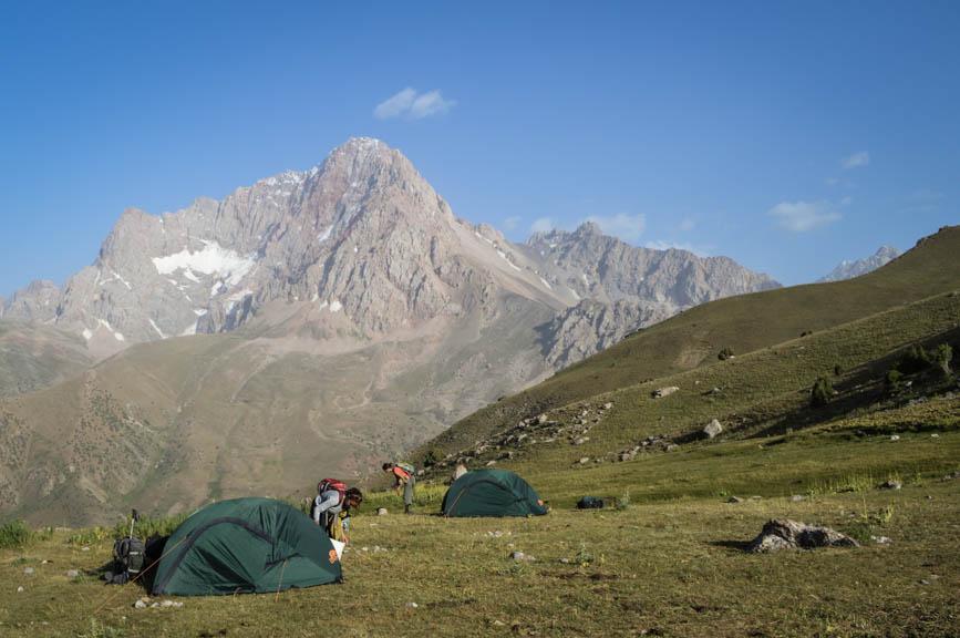 camping at the pass