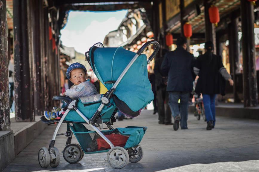 china blue baby