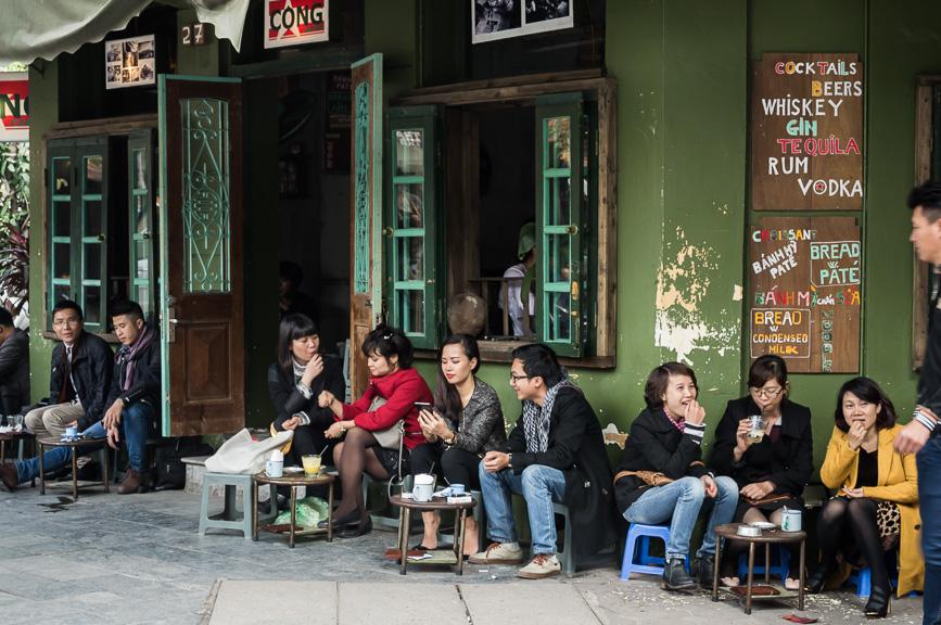 hanoi coffee hangout